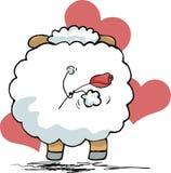 Schafe von der Rückseite lizenzfreie abbildung