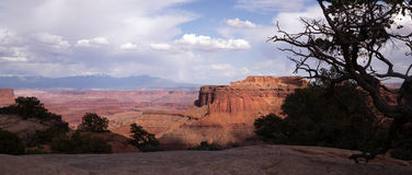 Schafer Canyon Majestic Buttes Storm Approaching Canyonlands Royalty Free Stock Image