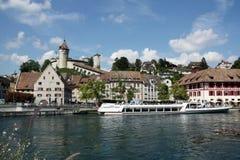 schaffausen den schweiziska townen Royaltyfria Foton