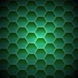 Schaffen Sie grüne Farbbienenwabenhintergrundbeschaffenheit lizenzfreie abbildung