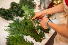 Schaffen Sie große Winterzusammensetzungen handmade Lizenzfreie Stockfotos
