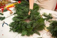 Schaffen Sie große Winterzusammensetzungen handmade Stockfotos