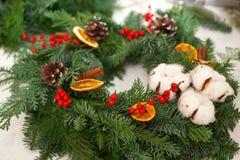 Schaffen Sie große Winterzusammensetzungen handmade Stockbild