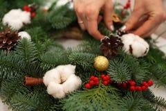 Schaffen Sie große Winterzusammensetzungen handmade Stockfotografie