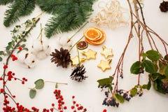 Schaffen Sie große Winterzusammensetzungen handmade Lizenzfreie Stockbilder