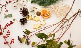 Schaffen Sie große Winterzusammensetzungen handmade Lizenzfreie Stockfotografie