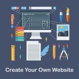 Schaffen Sie Ihre eigene Website Stockfotos