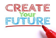 Schaffen Sie Ihre Zukunft Stockbild