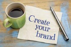 Schaffen Sie Ihren Markenrat - Serviette stockbild