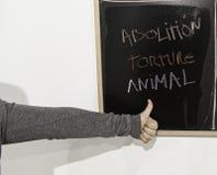 Schaffen Sie Tierfolterung ab Stockfotografie