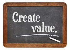 Schaffen Sie Wert auf Tafel lizenzfreies stockfoto