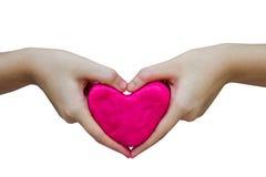 Herz vom Spielteig Stockbild