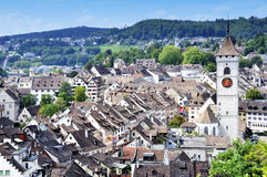 Schaffhausen from above Royalty Free Stock Images