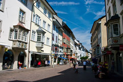 Schaffhausen city centre royalty free stock image