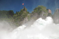 Schaffhausen falls. Front view of Schaffhausen falls, Switzerland Royalty Free Stock Photo