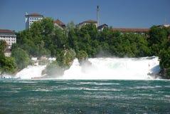 Schaffhausen falls. Front view of Schaffhausen falls, Switzerland Royalty Free Stock Photography