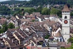 Schaffhausen, historische stad in Zwitserland Royalty-vrije Stock Foto's