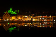 Schaffhausen By Night Stock Image