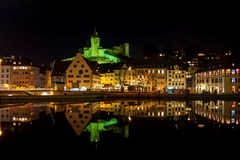 Schaffhausen By Night Stock Photos