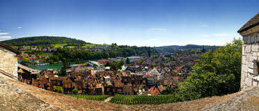 Schaffhausen panorama. Panorama Schaffhausen from Munot Castle Royalty Free Stock Images