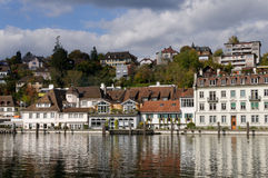 Schaffhausen Riverscape Photos stock