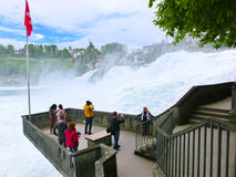 Schaffhausen, Switzerland - May 01, 2017: Largest waterfall in Europe by River Rhein in Switzerland Stock Photography