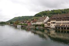 Schaffhausen è una città in Svizzera del Nord Immagine Stock