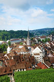 Schaffhausen on the Upper Rhine Stock Image