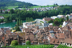 Schaffhausen on the Upper Rhine. Royalty Free Stock Photos