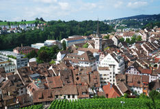 Schaffhausen on the Upper Rhine. Stock Photo