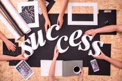 Schaffung des Erfolgswortes Lizenzfreies Stockbild