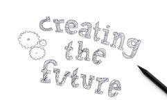 Schaffung des zukünftigen Konzeptes lizenzfreies stockfoto