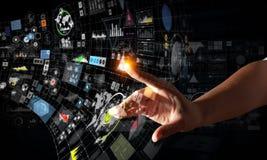 Schaffung von innovativen Technologien Gemischte Medien stockfotografie