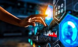 Schaffung von innovativen Technologien Gemischte Medien stockbild