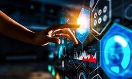Schaffung von innovativen Technologien Gemischte Medien lizenzfreies stockfoto