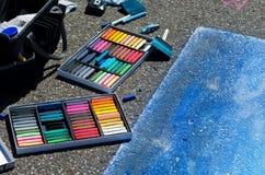 Schaffung von Straßenkunst Stockbild