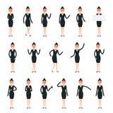Schaffungssatz der weiblichen Figur Geschäftsfraucharaktere Satz a Lizenzfreies Stockfoto