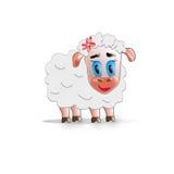 Schafmädchen mit Blume Lizenzfreie Stockfotos