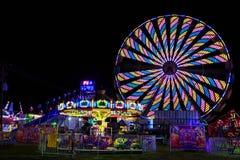 Schaghticoke County Fair NY USA. August 2017. Rainy summer night in September Stock Photos