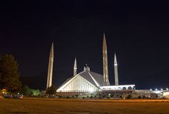 Schah Faisal Mosque Islamabad Royaltyfria Foton