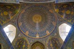 Schah-Moschee an Quadrat Naqsh-e Jahan in Isfahan, der Iran, eingelassenes Januray 2019 eingelassenes hdr stockfotografie