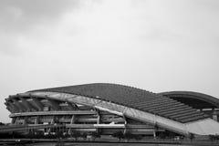 SchahAlam Stadium arkitektur i svartvitt fotografering för bildbyråer