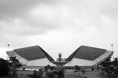 SchahAlam Stadium arkitektur i svartvitt royaltyfri bild