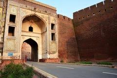 SchahBurj port - Lahore fort Arkivfoto