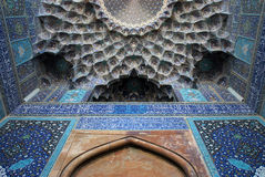 Moské för schah (Imam) i Isfahan, Iran Arkivbilder