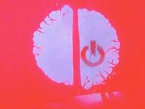 Schakel uw hersenen in royalty-vrije illustratie