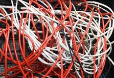 Schakelaar en kabels royalty-vrije stock foto