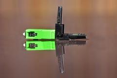 Schakelaar van de optische vezel de enige wijze LC Royalty-vrije Stock Afbeelding