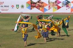 Schal-Tanz in Indonesien Lizenzfreie Stockfotos