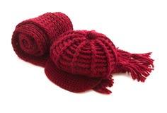 Schal und Schutzkappe lizenzfreies stockfoto